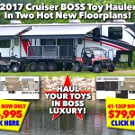 2017 Cruiser Boss Toy Hauler Fifth Wheel