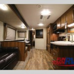 Prime Time Avenger Travel Trailer Interior