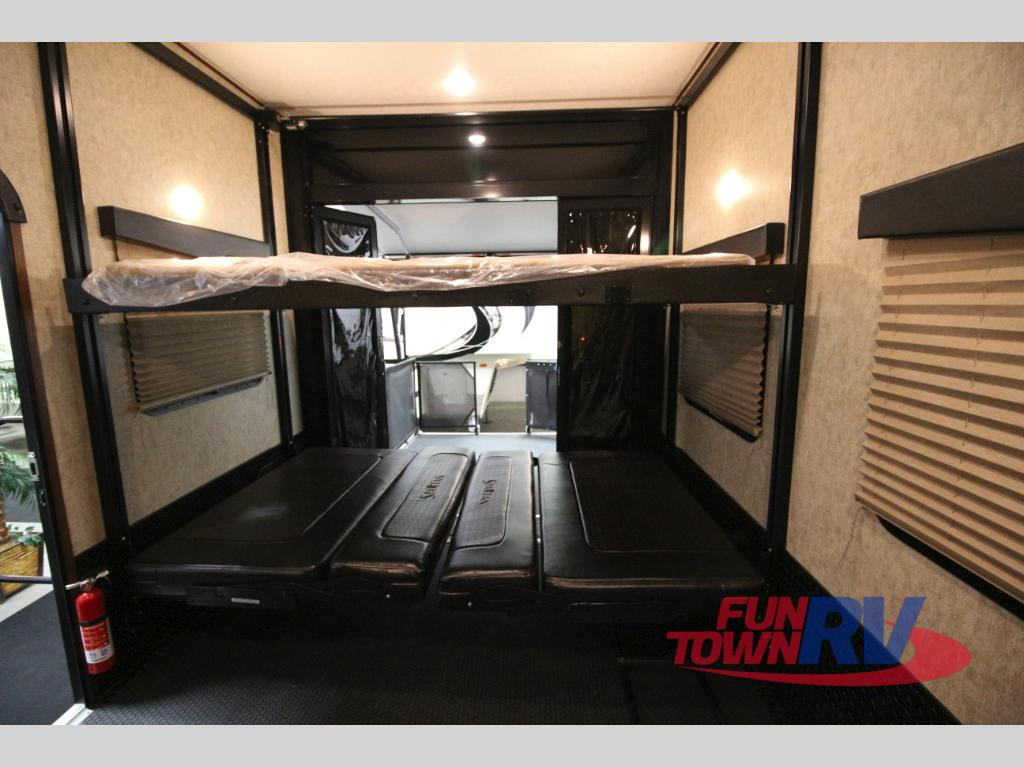 Prime Time Spartan Fifth Wheel Toy Hauler Interior Garage