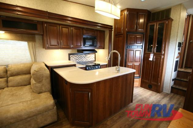 Forest River Black Diamond Fifth Wheel Kitchen