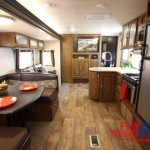 Forest River Wildwood 28DBUD Bunkhouse Travel Trailer Living Area