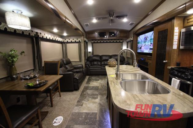 Forest River Cedar Creek Hathaway Edition Fifth Wheel Living Area