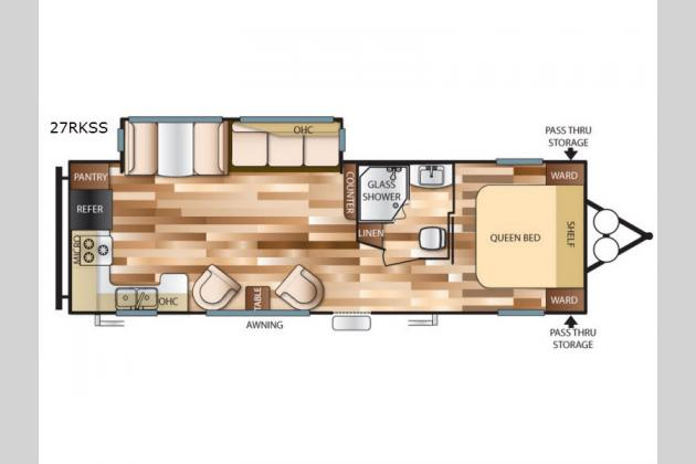 Attractive Forest River Wildwood RKSS Travel Trailer Floorplan Wildwood 27RKSS Rear  Kitchen Floorplan