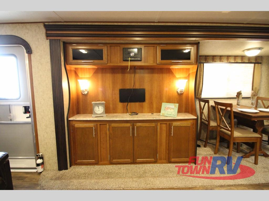 Prime Time Avenger Travel Trailer Entertainment Center