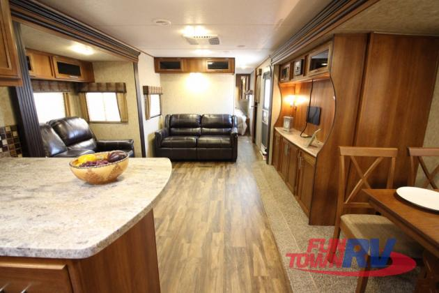 Prime Time Avenger Travel Trailer Living Area
