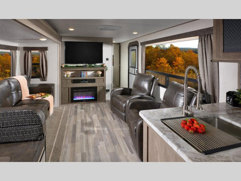 vibe travel trailer living room