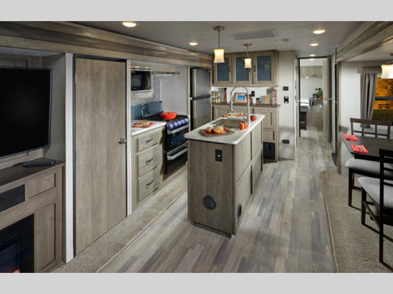 vibe travel trailer kitchen