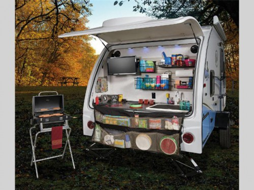 Forest River R-Pod Travel Trailer Rear Garage