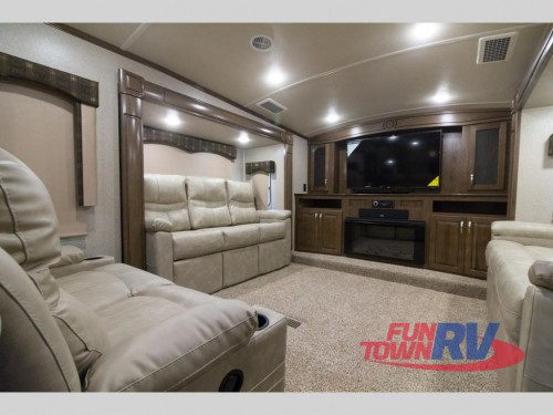 Cedar Creek Silverback 37RTH Toy Hauler Living Room