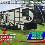 Heartland Road Warrior 362RW Fifth Wheel Toy Hauler