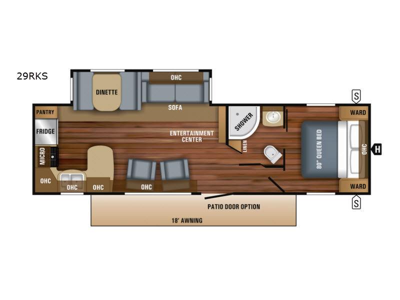 Three Rear Kitchen Floorplans to