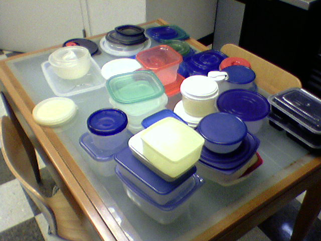 lots of tupperware