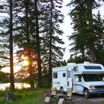 buying an rv and camping in the woods