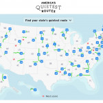 Map of the Quietest Route in America