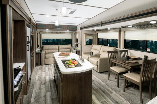 Keystone RV Hideout Interior Kitchen Island