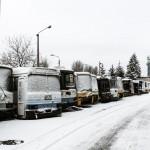 RVs in the Snow