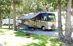 Holly Shore Camping Resort Campground Amenities Gated Resort Shaded Stone