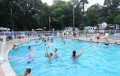 Holly Shore Camping Resort Campground Amenities Heated Pool