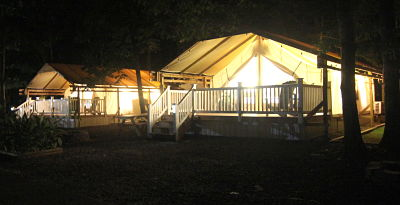Glamping Tents Holly Shore Cape May New Jersey Interior Night