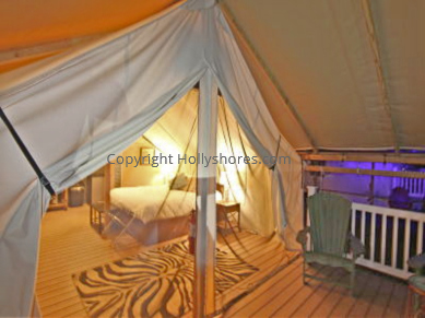 Glamping Tents Holly Shore Cape May New Jersey Interior