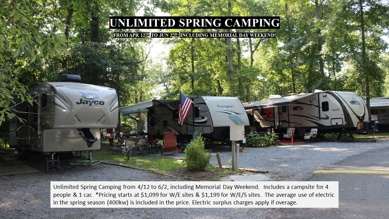 Unlimited Camping Spring Events In Cape May, NJ