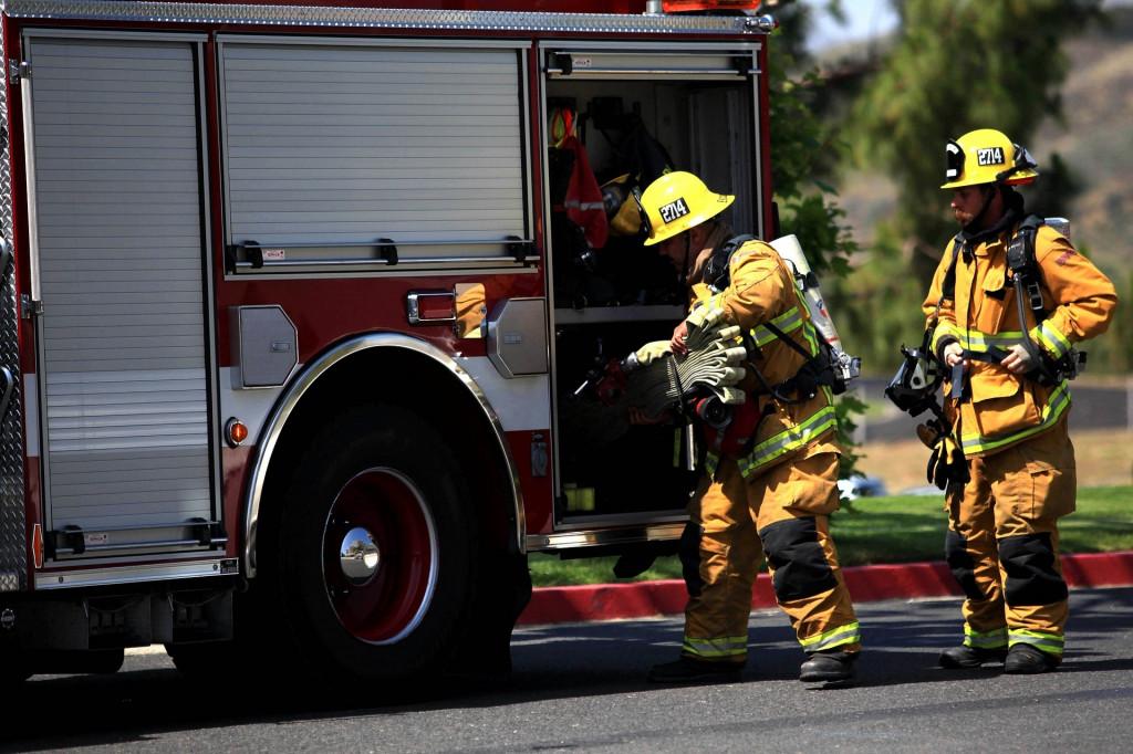 Firefighters and Hot Wings