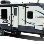 exterior of puma travel trailer