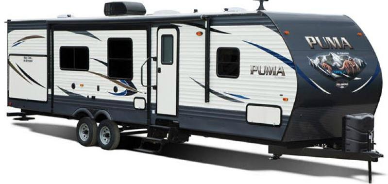 exterior of puma travel trailer