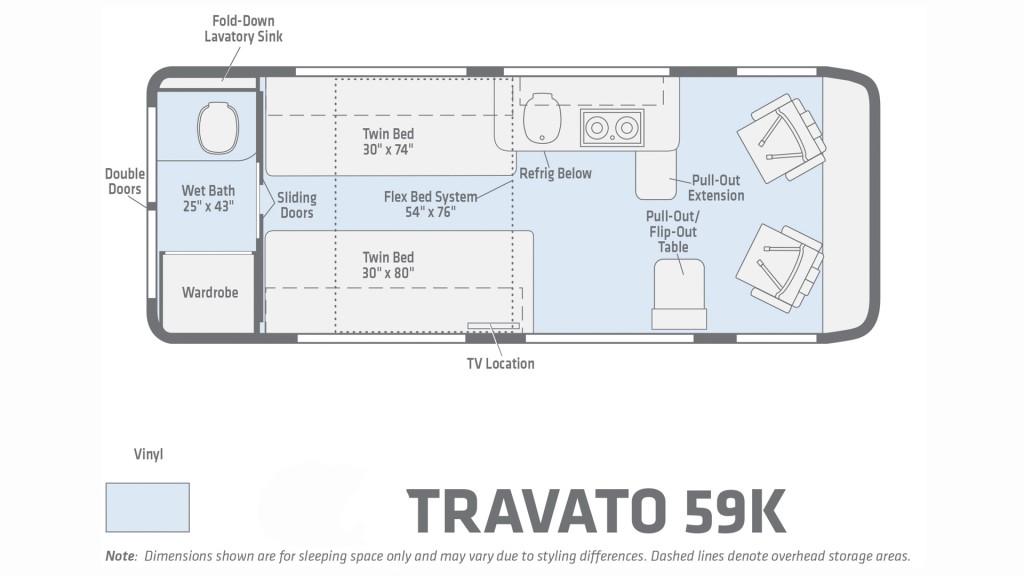 Winnebago Travato 59K Floorplan