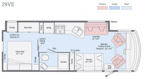 Winnebago Vista Floorplan 29VE
