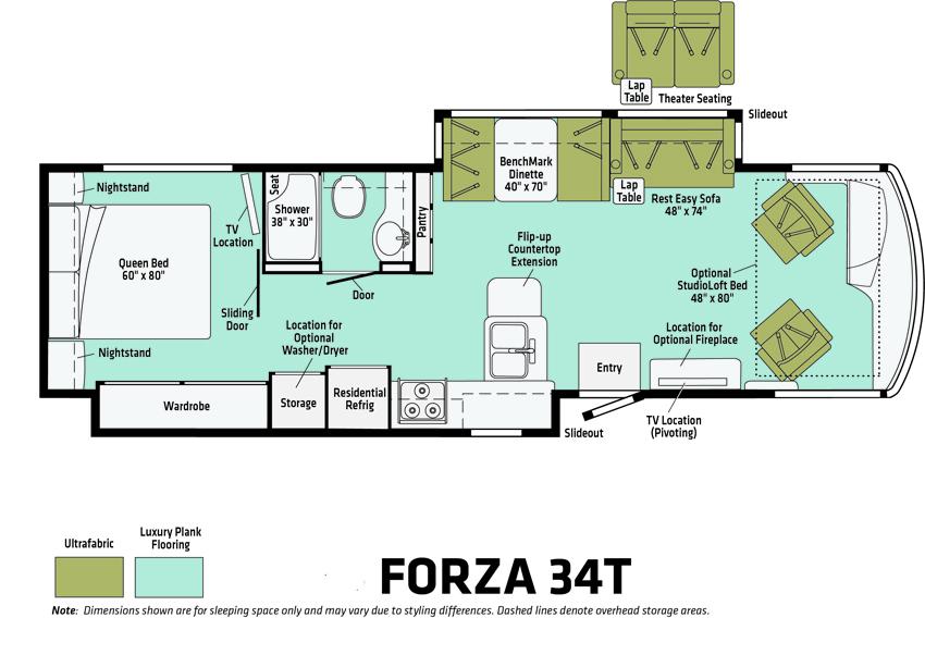 Forza 34T Floorplan