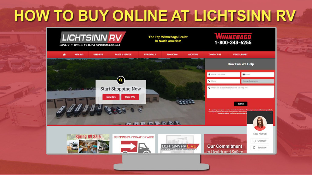 How to buy online at Lichtsinn RV