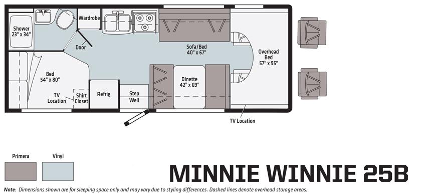Minnie Winnie 25B Floorplan
