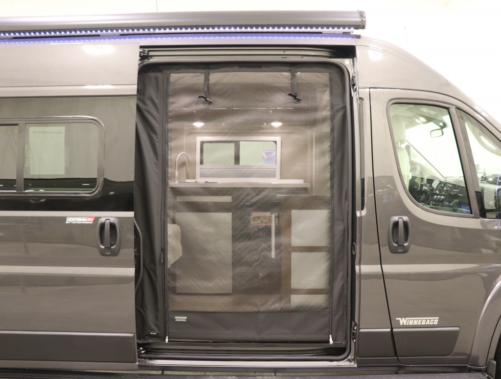 Roll-up Rear and Side Screen Doors
