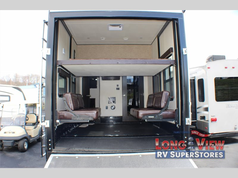Garages For 5th Wheels : Grand design momentum fifth wheel toy hauler high end