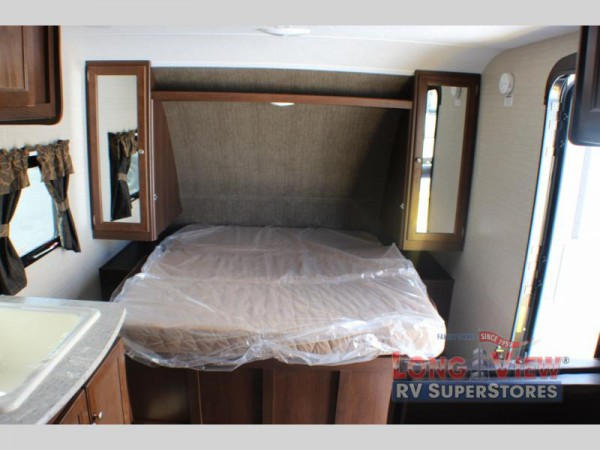Crossroads Bullet Crossfire travel trailer bedroom