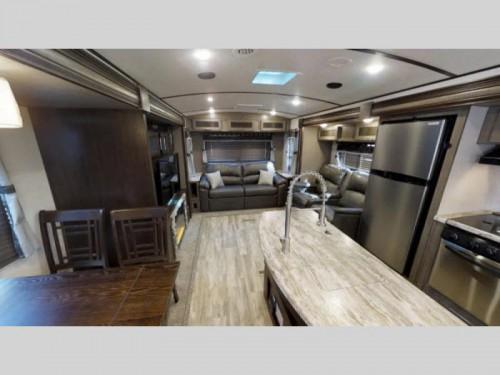 Forest River Surveyor travel trailer interior