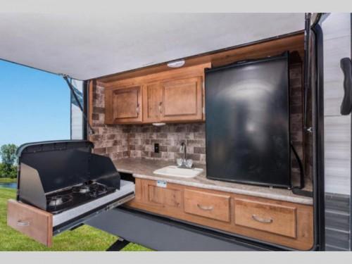 Gulfstream Conquest travel trailer Ext Kitchen