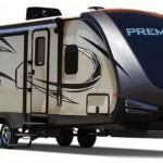 exterior of keystone premier ultra lite travel trailer
