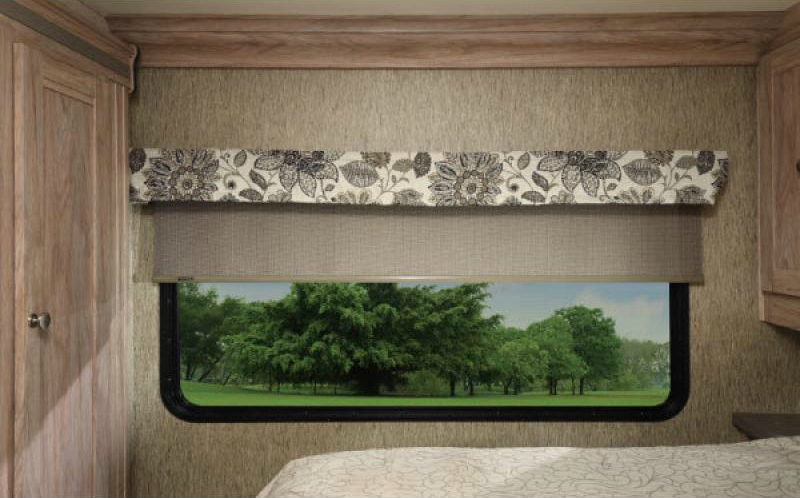 bedroom of sunseeker class c motorhomes