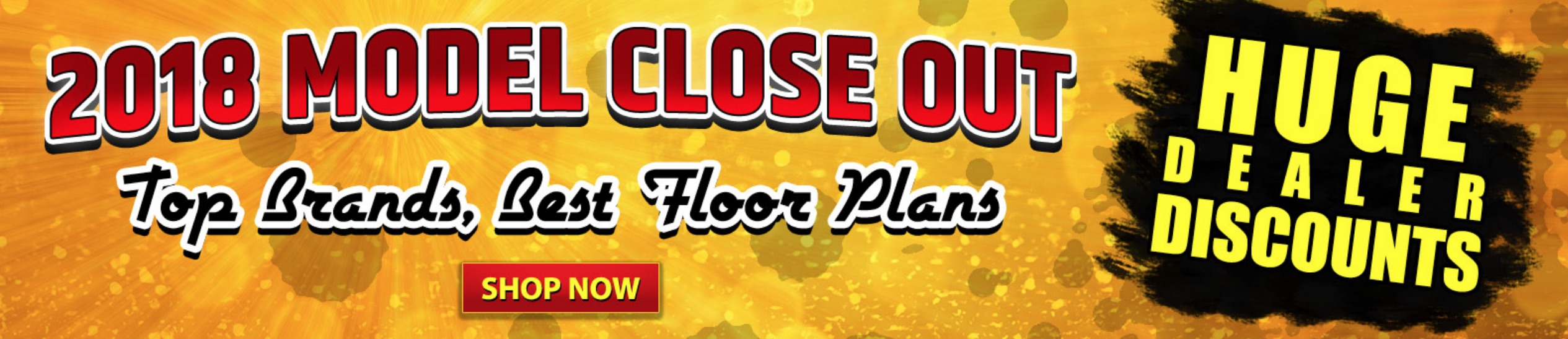 2018 Model Closeout Banner