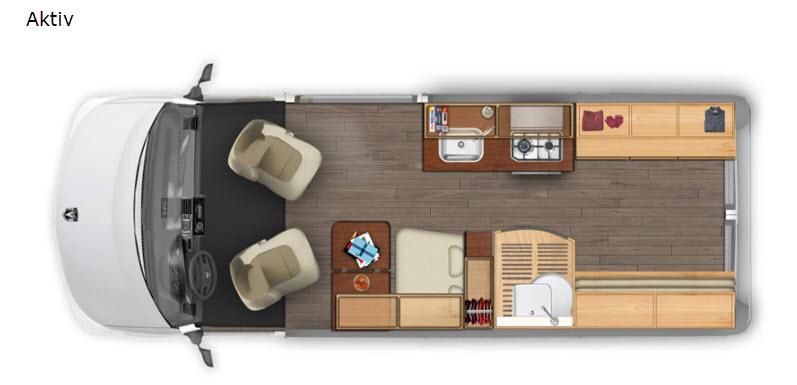 EHGNA Class B Motorhome Interior Floorplan