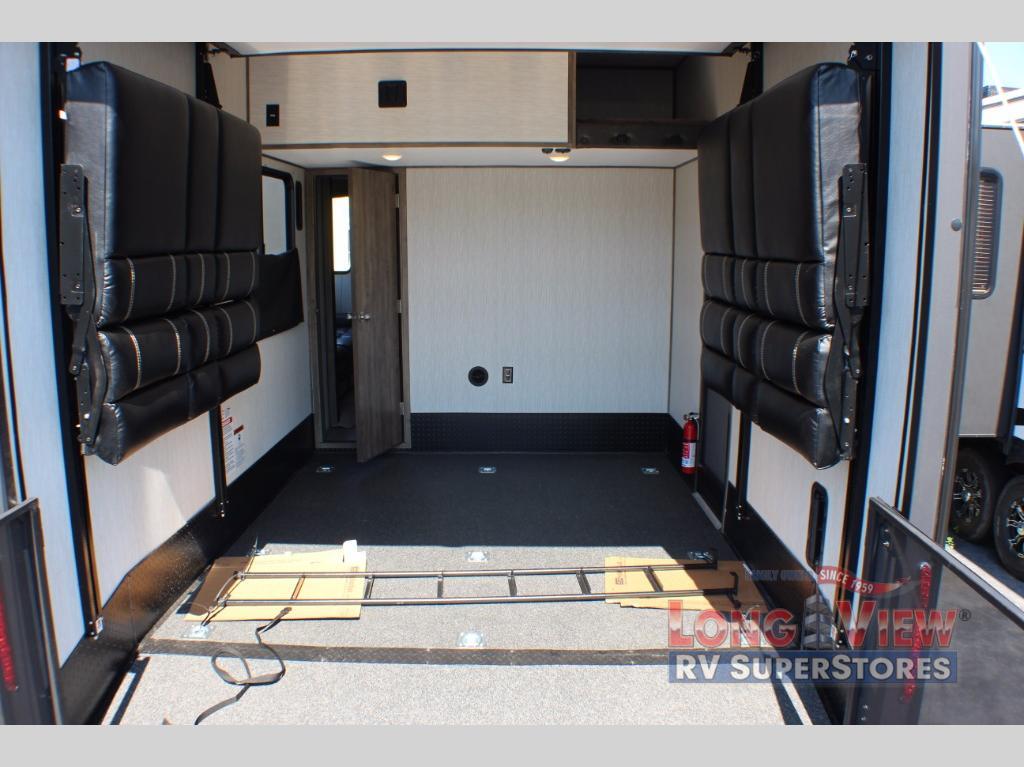 Toy hauler garage space