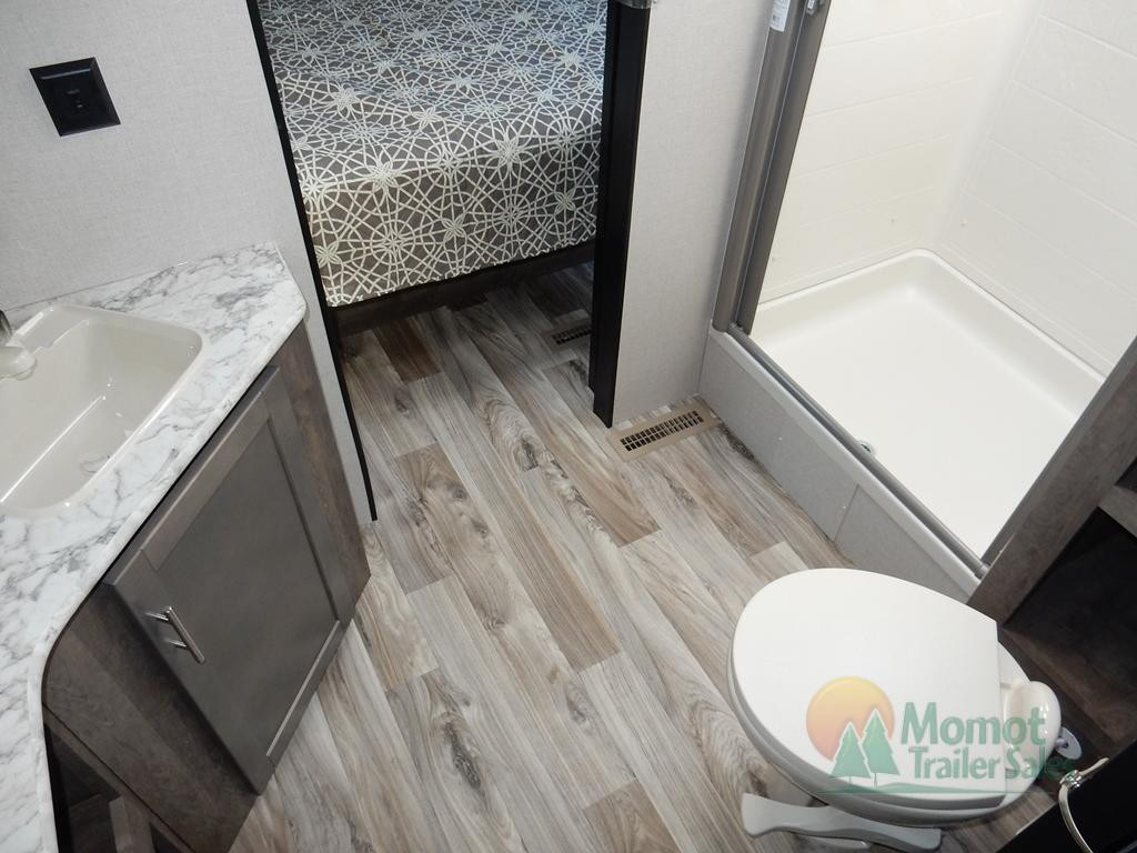KZ connect travel trailer bathroom