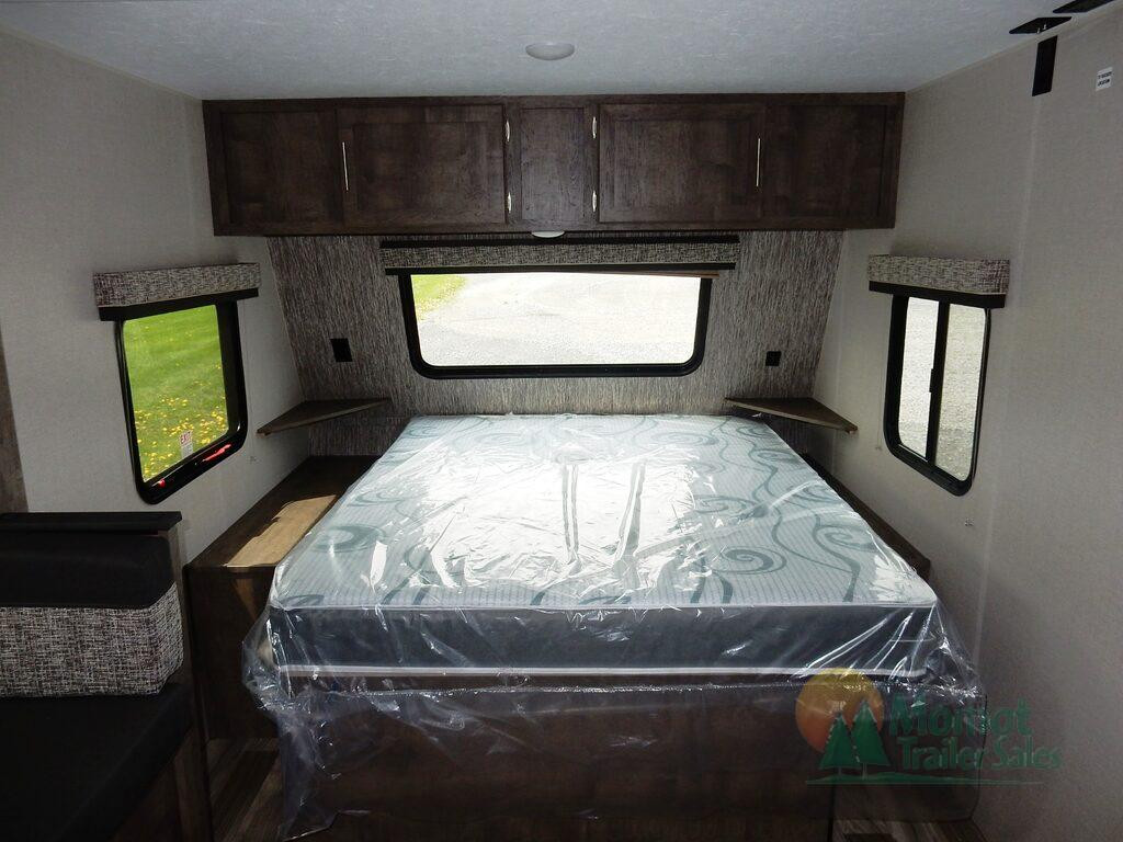 KZ Escape travel trailer bed