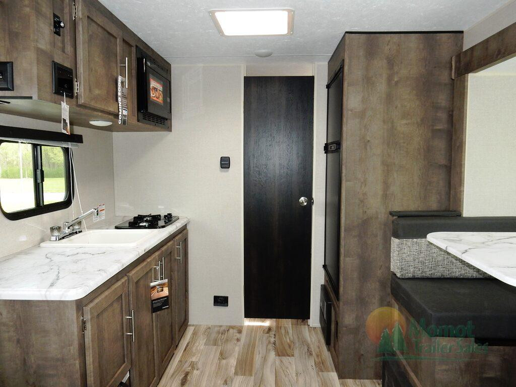 KZ Escape travel trailer living