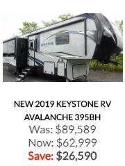 2019 Keystone Avalanche 395BH