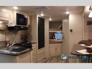 winnebago minnie travel trailer interior bunks