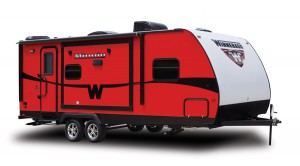 Winnebago Minnie travel Trailer red
