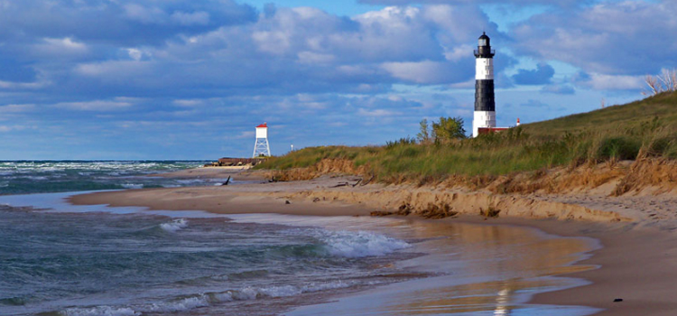 4 fun camping locations in michigan, picture of ludington state park beach in michigan
